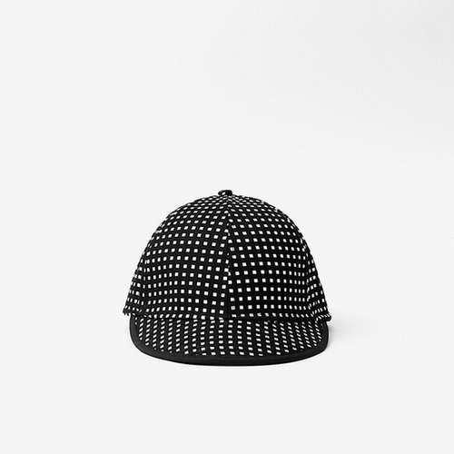 Baseball Cap in Small Squares