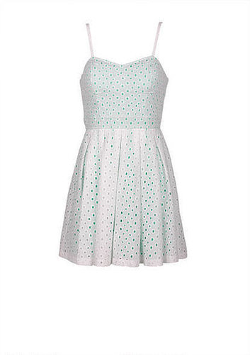 White Mint Eyelet Dress