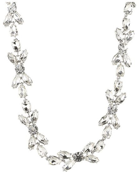 Kate Spade New York - Crystal Petals - Bridal Short Necklace (Clear/Silver) - Jewelry