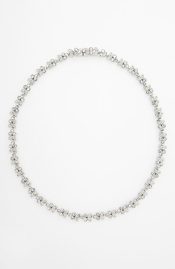 Nadri Small Leaf Crystal Necklace