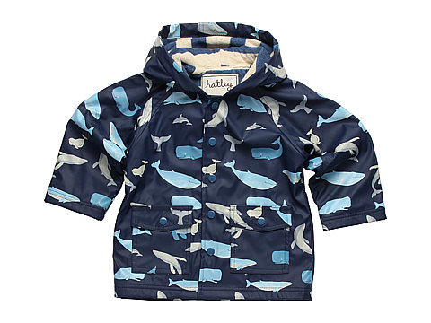 Stay dry, even in a storm, in this sweet printed whale raincoat ($43) by Hatley Kids.
