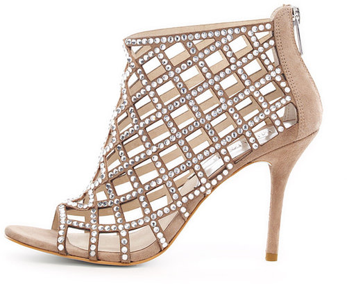MICHAEL Michael Kors Yvonne Crystallized Cage Bootie