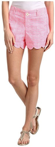 Lilly Pulitzer - Buttercup Short (Fiesta Pink Pretty Gingham) - Apparel