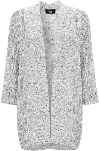 Grey Sequin Long Cardigan