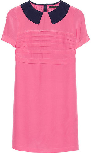 Marc by Marc Jacobs Bowery collar-appliquéd silk crepe de chine dress