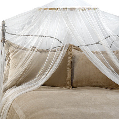 Mombasa™ Siam Ivory Bed Canopy and Mosquito Net