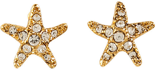 Juicy Couture Gold-Toned Starfish Stud Earrings