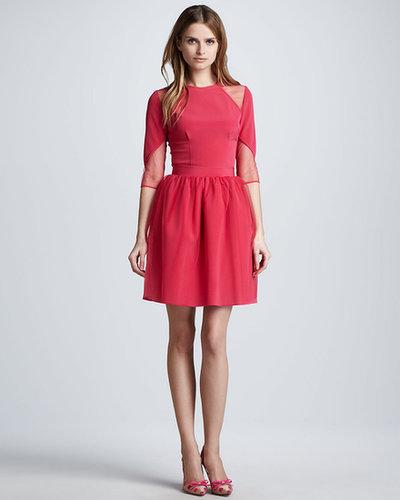 Nha Khanh Tulle-Overlay Full Skirt