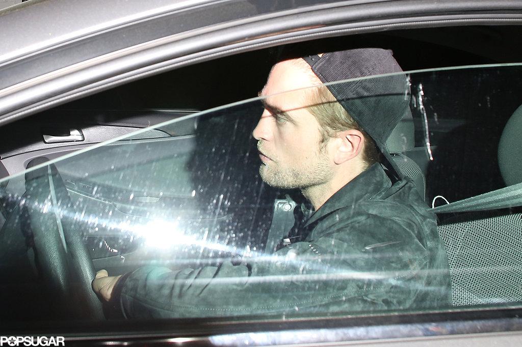 Robert Pattinson kept a low profile.