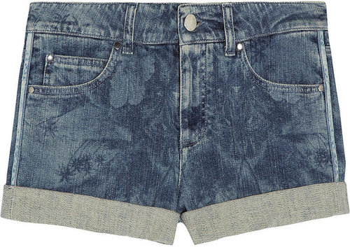 Stella McCartney Hawaiian-print stretch-denim shorts