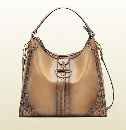 Duilio Brogue Leather Hobo
