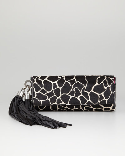 Z SPOKE ZAC POSEN Claudette Calf Hair Tassel Clutch Bag
