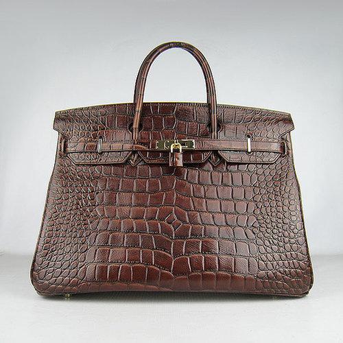 Hermes Birkin 42 Crocodile skin Silver Hardware (Black)-