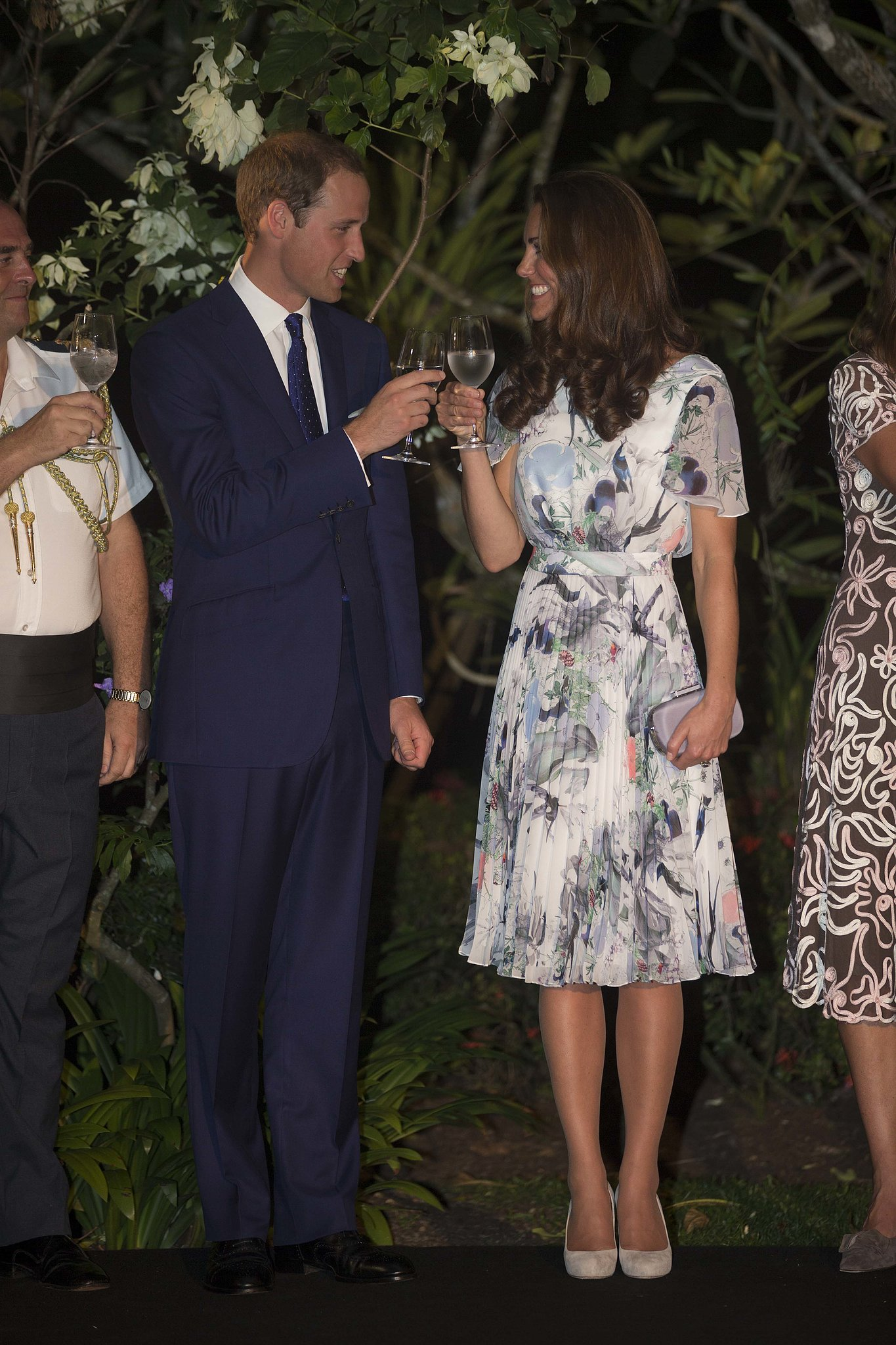 In September 2012, the couple toasted during