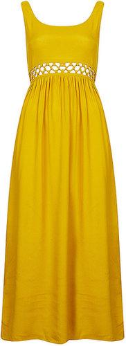 Petite Waist Lace Maxi Dress