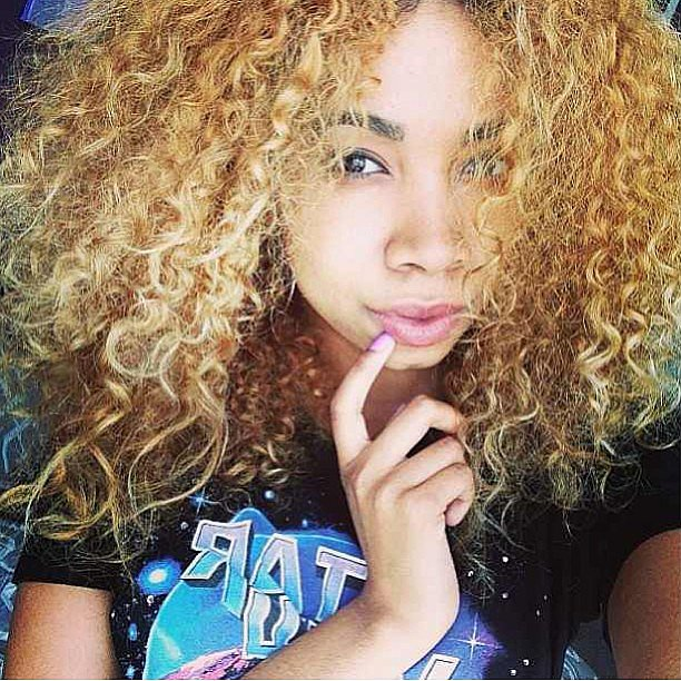This Girl S Curly Blond Hair Is More Than Enviable
