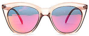 Le Specs The Halfmoon Magic Sunglasses in Tan