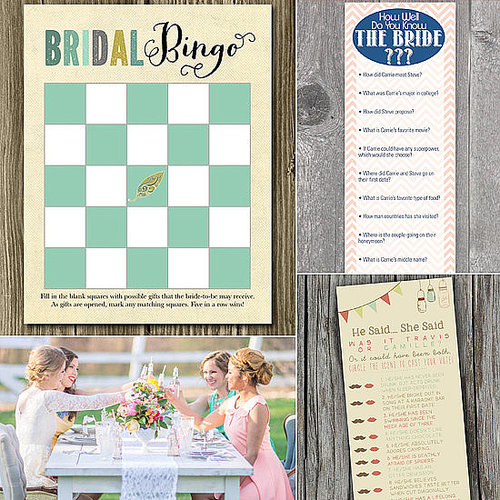 When it comes to the bridal shower, nothing breaks the ice better than a good game. Keeping it easy on the maid of honor, POPSUGAR Love & Sex found 10 affordable and (mostly) printable games that are sure to be a hit.