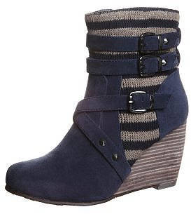 Anna Field Wedge boots blue