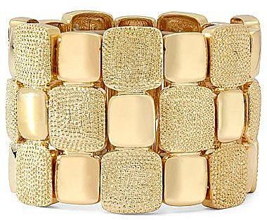 Liz Claiborne Gold-Tone Stretch Bracelet