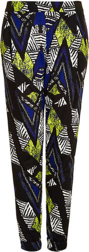 African Chevron Jersey Tapered Trousers