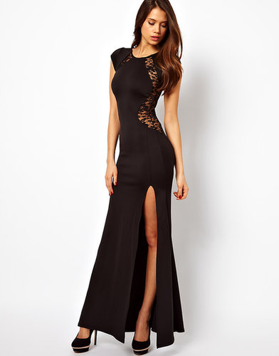 TFNC Maxi Dress with Lace Back and Fishtail