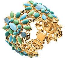 Ben Amun Multi Stones Crowned Turquoise Bracelet
