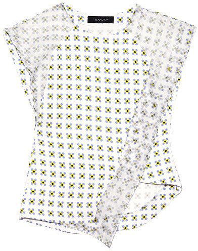 Preorder Thakoon Geo Printed Crepe Asymmetric Top