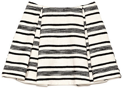 Preorder Thakoon Contrast Striped Cotton Pleated Skirt