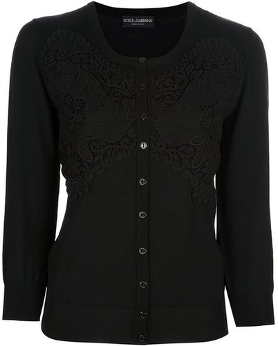 Dolce & Gabbana lace panel cardigan