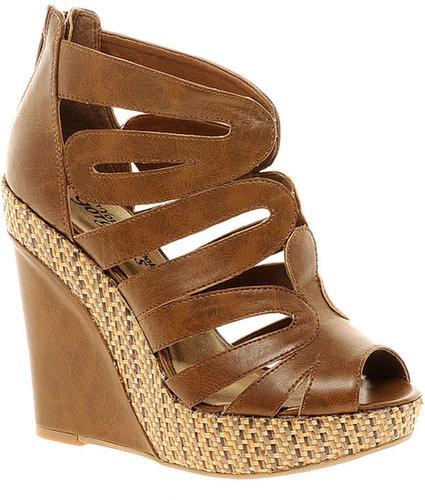 New Look – Sandale mit Reißverschluss hinten, abgesetzter Plateausohle und Keilabsatz