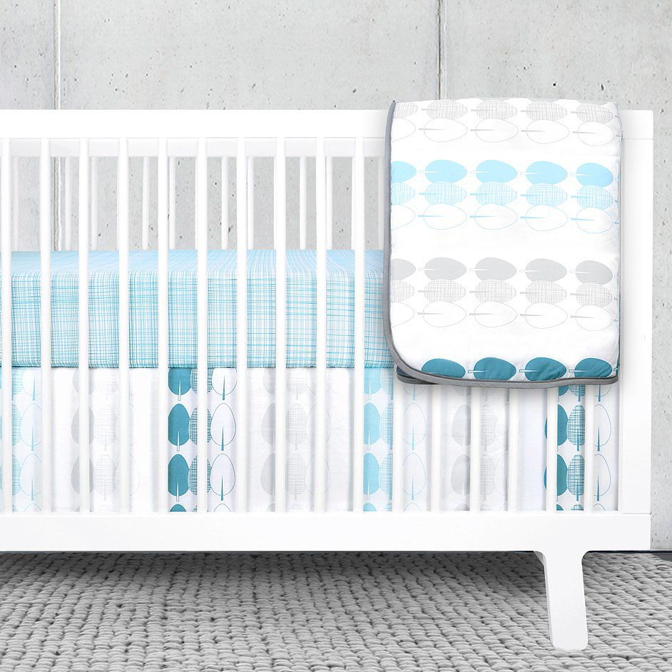 Olli & Lime Forrest Bumperless Crib Set