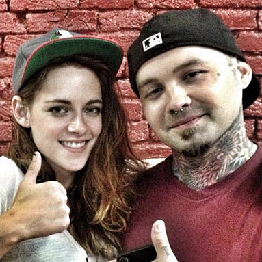 Kristen Stewart Gets Her First Tattoo in Texas
