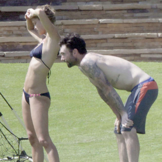Adam Levine Shirtless With Nina Agdal in a Bikini Pictures