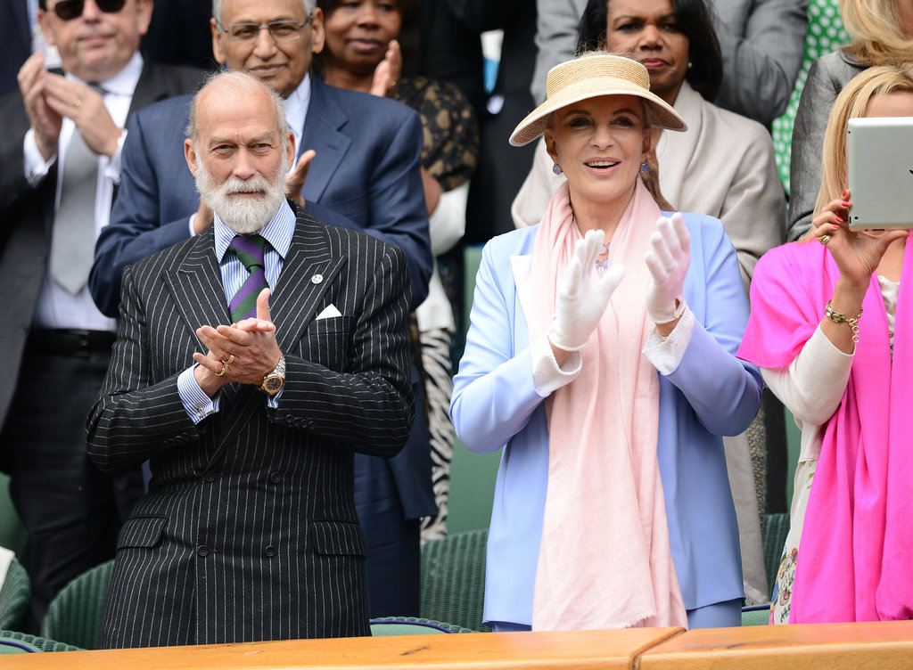 Prince Michael of Kent and Princess Michael of Kent took seats in the royal box for day one of Wimbledon on Monday.