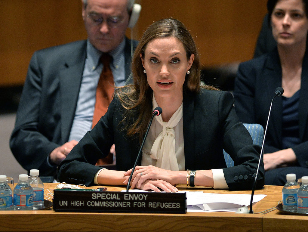 Angelina Jolie spoke with the UN Security Council.