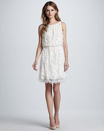 Alice + Olivia Denise Sleeveless Lace Dress