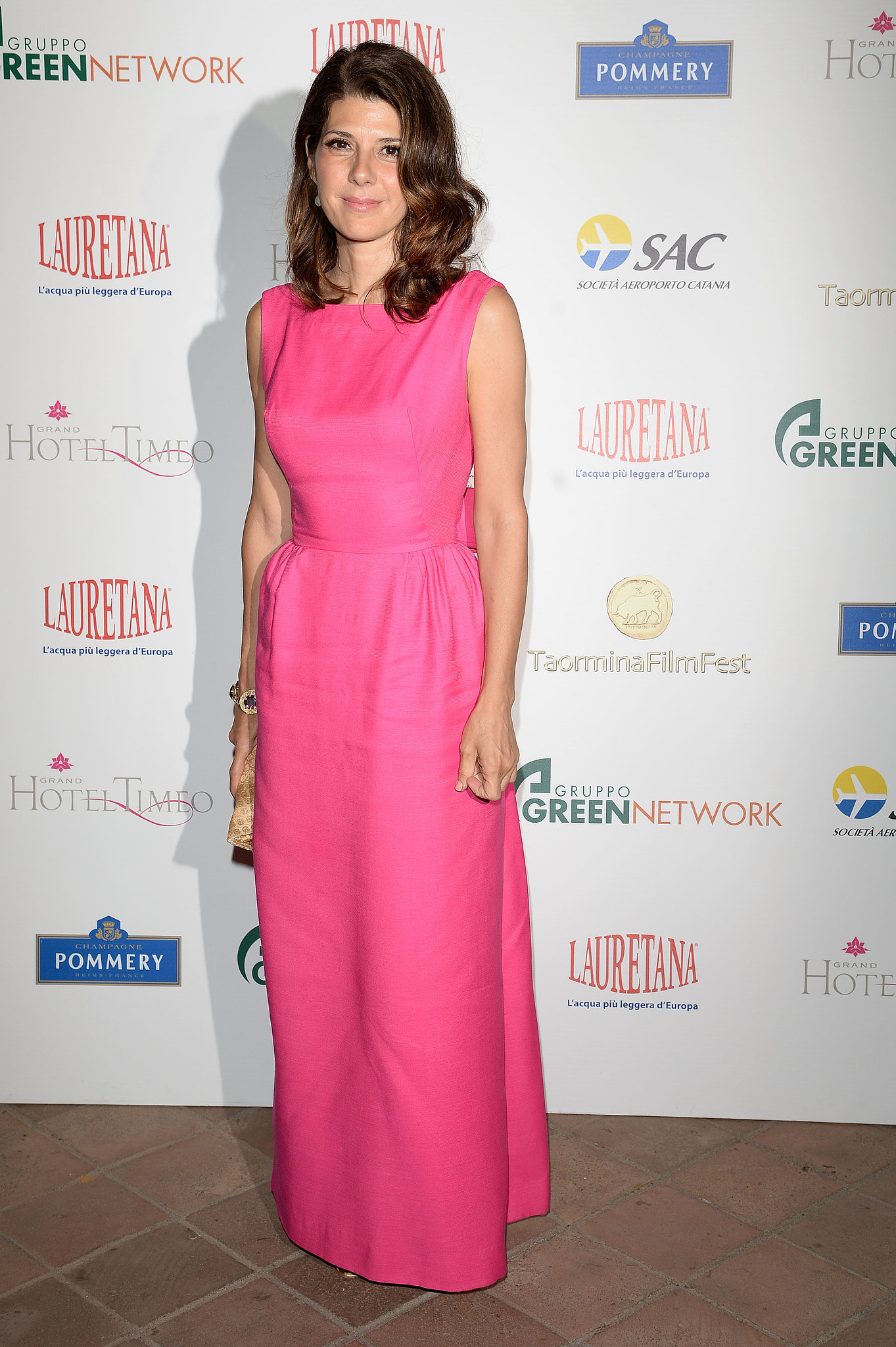 Marisa Tomei was a vision in pink at the closing ceremony of the Taormina Film Festival in Italy.