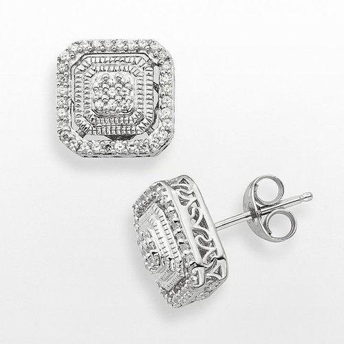 Simply vera vera wang sterling silver 1/5-ct. t.w. diamond stud earrings