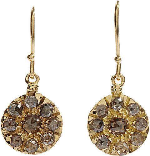 Fabrizio Riva Brown Crown Cut Diamond Earrings