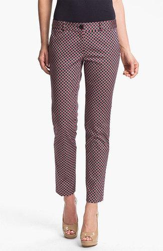 MICHAEL Michael Kors Skinny Print Ankle Pants