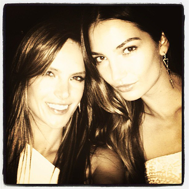 Alessandra Ambrosio got together with fellow model Lily Aldridge for the CFDA Awards afterparty in June in NYC.  Source: Instagram user alessandraambrosio