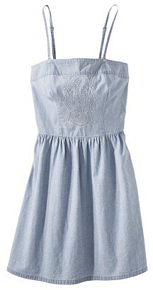Merona® Women's Chambray Sun Dress -Light Wash