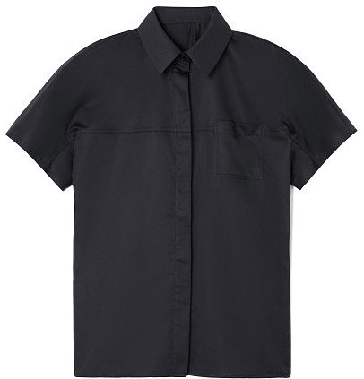 Preorder Jason Wu Short Sleeved Button Front Cotton Shirt