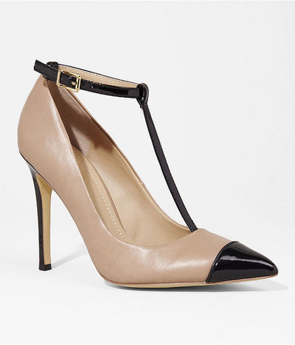 Pointed Cap Toe T-Strap Pump