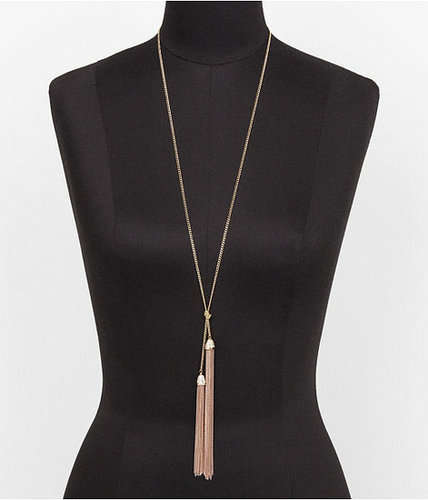 Double Chain Tassel Y Necklace