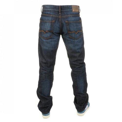 HUGO BOSS Orange 25 Zip Jeans Dark Blue