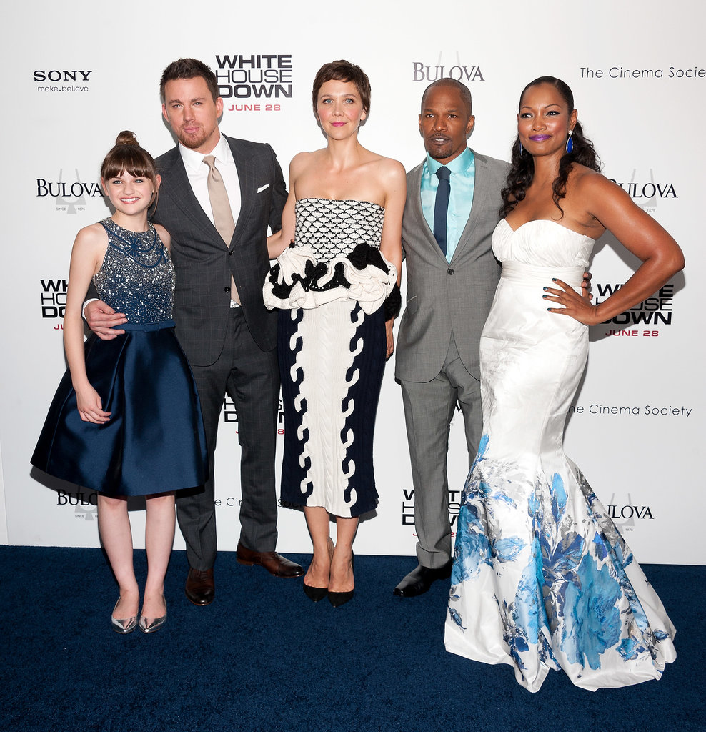 Channing Tatum got together with his costars Joey King, Maggie Gyllenhaal, Jamie Foxx, and Garcelle Beauvais at White House Down's NYC premiere.