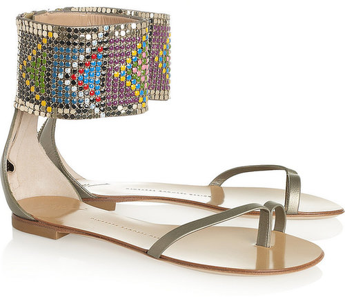 Giuseppe Zanotti Metallic leather and resin sandals