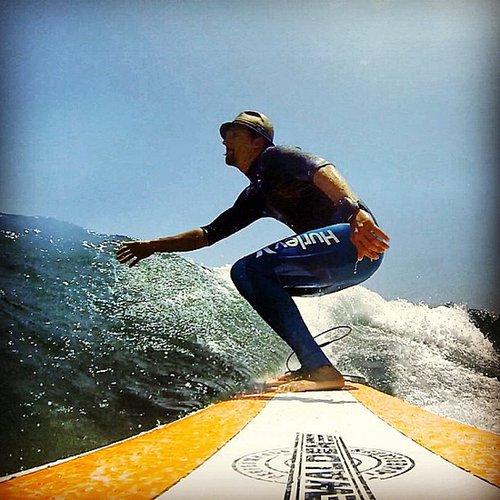 Jason Mraz went surfing during a break with friends. Source: Instagram user jason_mraz